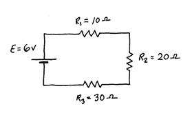 DC Series Resistor Circuit